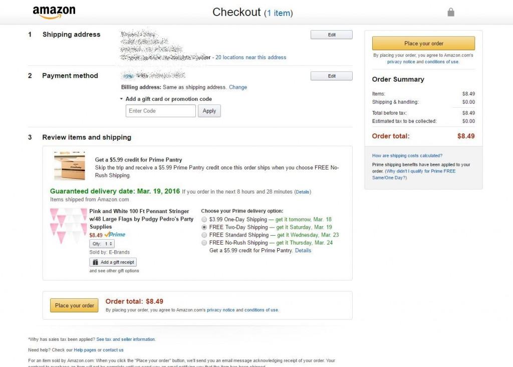 Amazon Cart Checkout